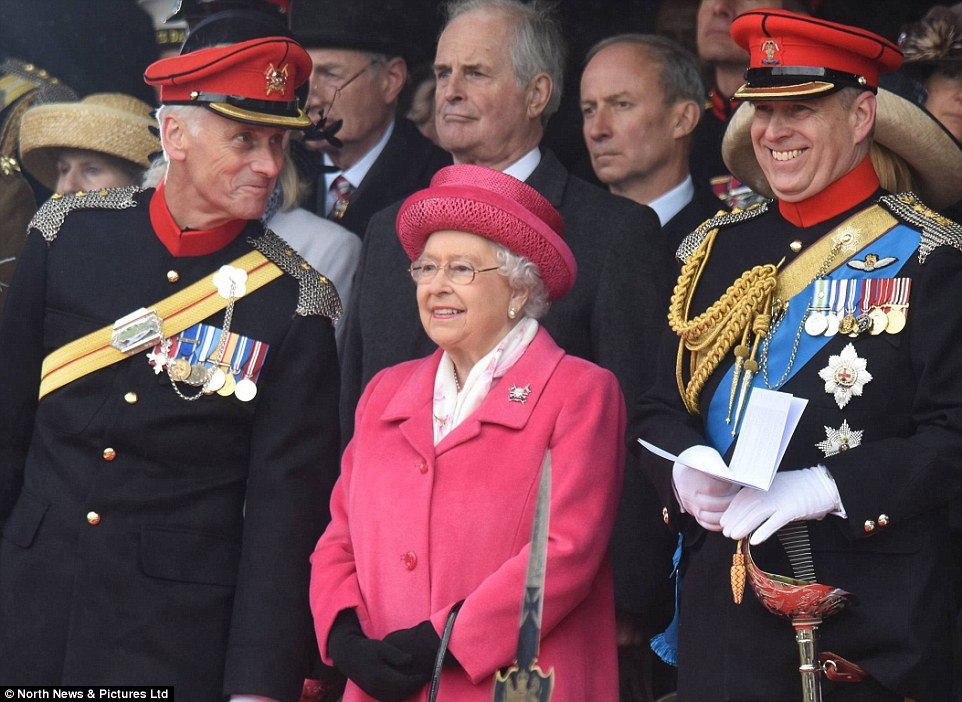The-Queen-and-Prince-Andrew-were-in-good-spirits-as-they-attended-The-Royal-Lancers-amalgamation-parade-at-Richmond-Castle-in-North-Yorkshire-yesterday-afternoon