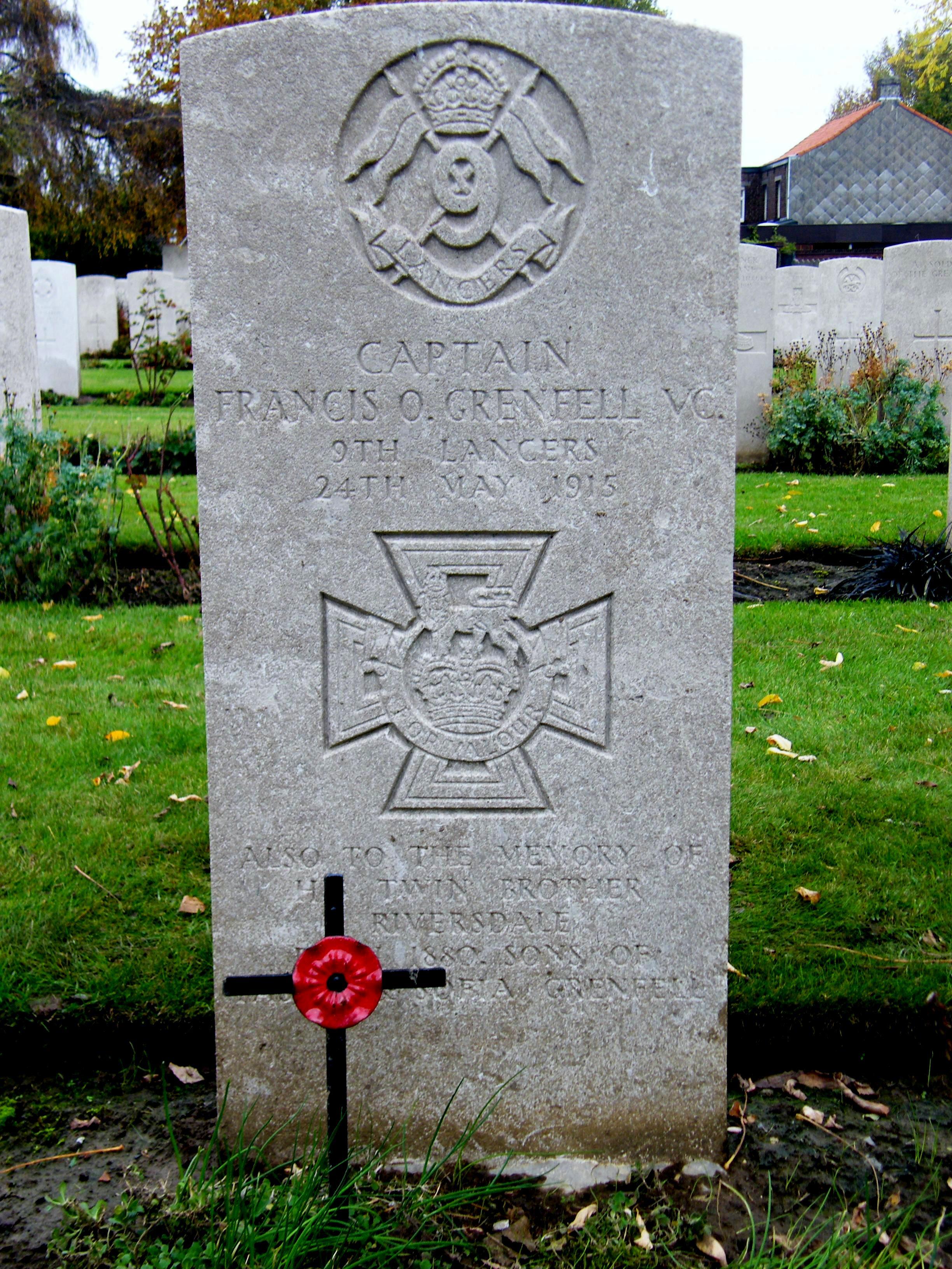Grenfells Grave - Ypres