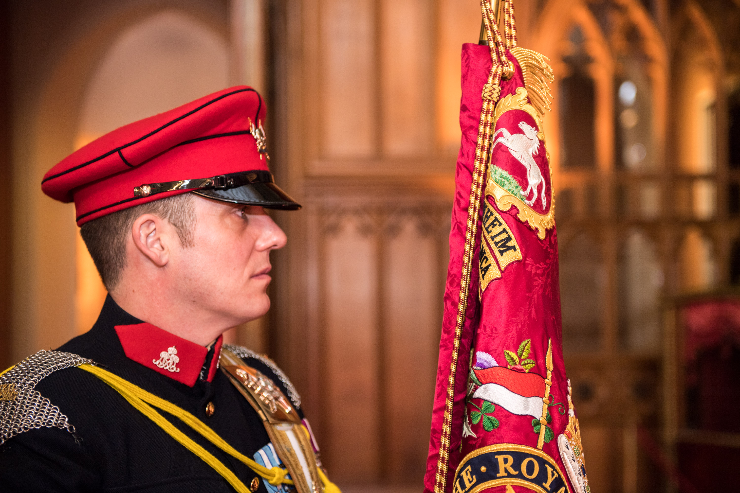 The Queen was at Windsor Castle today to present a guidon to The Royal Lancers who are based in Catterick.   The monarch also added an honorific suffix to the regiment's name to mark 70 years of her being its Colonel-in-Chief. The regiment will now be known as The Royal Lancers (The Queen Elizabeths' Own)   Also in attendance at the Berkshire residence was His Royal Highness The Duke of York, who is Deputy Colonel-in-Chief.   Sgt Rupert Frere RLC / MoD Crown